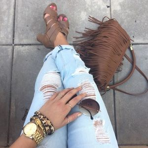 H&M fringe purse